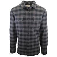 Rip Curl Men's Black Grey Box Plaid L/S Flannel Shirt (S17) Medium