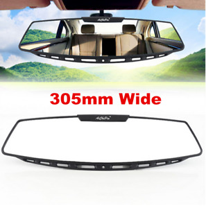 "Interior Accessories Universal 12"" Wide Convex Clip On Rear View Clear Mirror"