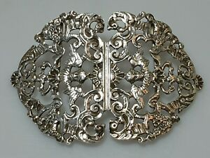 A Stunning Rare 1895 Stirling Silver William Comyns Nurses Belt Buckle.