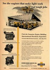 1953 Cummins Engine Co. Ad: Models VT-12, JBS-600, NHRS Pictured, Oilfield Motor