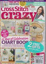 Punto de Cruz Loco GB Revista #186 Febrero 2014 , Sellado Gratis Tabla Libro