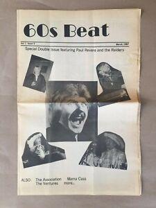 60s Beat Vol 1 3 Zine Fanzine Magazine 1987 Revere Raiders Mama Cass Beatles