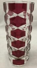 Vintage 1960s Luminarc J G Durand France Windsor Rubis Glass Vase 17cm