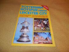 Tottenham Hotspur v Leicester City - FA Cup Semi-Final in 1982 at Villa Park