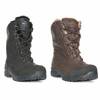 Trespass Mens Waterproof Snow Boots Insulated in Brown & Black