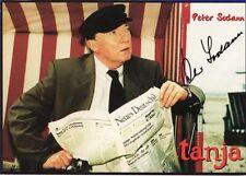 Autogramm Peter Sodann Karte Tatort Kommissar Ehrlicher handsigniert Tanja #
