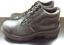 Warrior Black Safety Work Site Boots Industrial Steel Toe Cap Men's UK 8 (EU 42)