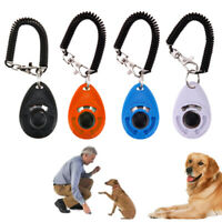 Pet Trainer Pet Dog Training Adjustable Sound Key Chain Dog Clicker+Wrist Strap