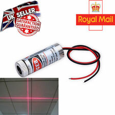 Focusable 5mW 650nm Red Cross Line Laser Module Focus Adjustable laser Head UK