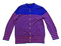 J Crew Womens Blue Red Striped Long Sleeve Sweater Cardigan Size Small