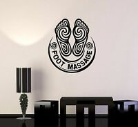 Vinyl Wall Stickers Foot Massage Salon Spa Relax Decal Mural (191ig)
