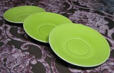 3 x  Beswick SAUCER PLATES - Lime Green Porcelain