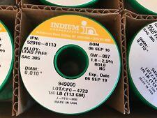 "1x Indium 52916-0113 CW-807 SAC305 No-Clean Flux-Cored Wire Solder, 0.010"" 1/4lb"