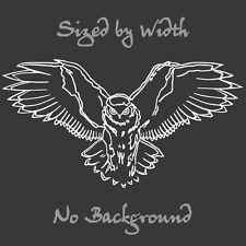 Owl Decal Bird Sticker Choose Color & Size