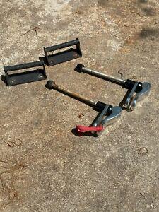 Bike rack fork mount block, 2