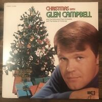 Vintage Glen Campbell Christmas Vinyl LP Record Album Hollywood Pops Orchestra