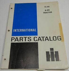 Farmall, International B-414 TC-85 OEM Factory Parts Catalog