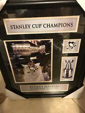 NHL 2009 Malkin With Stanley Cup Unsigned Framed Photo New