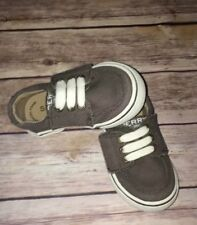 Toddler Boy Sperry Top Siders Olive Boat/Dress Shoes With Memory Foam Sz 5