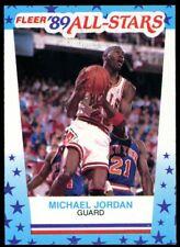Michael Jordan 1989-90 Fleer Sticker #3 Good Condition Authentic