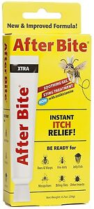 After Bite Xtra Gel Wasp, Fire Ant, Mosquitoes, Flies, etc 0.70 oz NEW LOOK!!