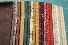21 CIVIL WAR REPRODUCTION QUILT FABRIC FAT QUARTERS FOR MARCUS FABRIC AND MORE