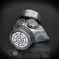 Steampunk Medic Gas Mask Respirator Masquerade Mask Costume Accessory [Silver]