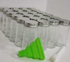 New listing Nellam 24 Spice Jars w/shaker, Silver Lid