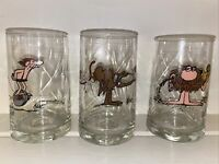 Vintage 1981 Arbys BC Ice Age Glasses Set of 3