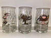 Vintage 1981 Arbys BC Ice Age Glasses Set of 3