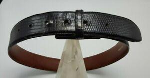 Barry Kieselstein-Cord Genuine Black Lizard Belt - Size Small