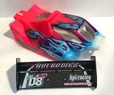 HB Hot Bodies D8 Nitro Buggy Body & Wings Custom Paint Job