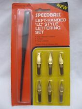Vintage Left Handed Speedball Calligraphy Dip Pen LC Style Lettering Set USA