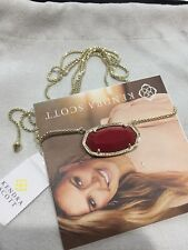 Kendra Scott Adjustable Red And Gold Delaney Necklace Nwt