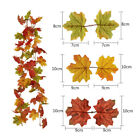 Artificial Autumn Fall Maple Leaves Garland Hanging Plant Home Party Decor Uk