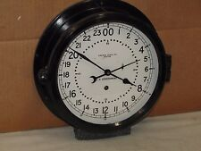 """CHELSEA MILITARY SHIPS CLOCK~AIR FORCE~10 1/2""""~1966~MISSILE SILO?~MINT"""