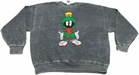 Men's Looney Tunes Marvin The Martian Distressed Pullover Sweatshirt Soft Faded