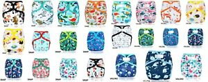 Happy Flute Double Gusset One Size Cloth Nappy Cover Wrap Bulk Pack Choose Print