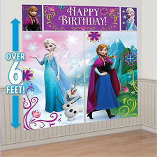 Disney FROZEN Large Party Wall Decoration Poster Scene Photo Prop Background