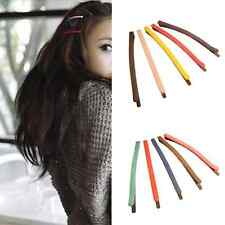 3X Acrylic Frosted Hair Clips Fashion Edge Clip Alloy Girl Hairpin Barrette Gift