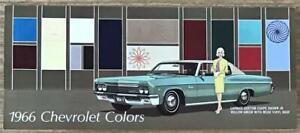 CHEVROLET COLOUR CHART USA 1966 CAPRICE Impala CHEVELLE Corvette CORVAIR Chevy 2