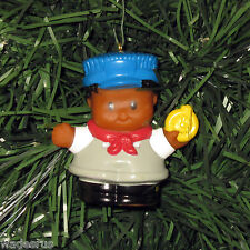 Fisher Price Train Conductor Custom Christmas Tree Ornament Little People