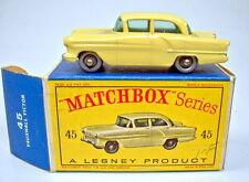 "Matchbox RW 45A Vauxhall Victor gelb silberne Plastikräder top in ""D"" Box"