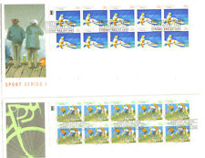 Sports 1 - 39c Fishing & Sports 2 - 41c Cycling  Booklet Panes FDC's Cheap Start