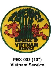 """VIETNAM SERVICE Embroidered Military Extra Large Patch (10"""")"""