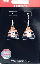 58cc1b437 DETROIT TIGERS EARRINGS MLB KNIT BEANIE HAT CAP W/TEAM LOGO Official  Licensed