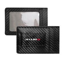 Nissan NISMO Slim Black Carbon Fiber RFID Block Card Holder Wallet