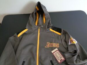 LOS ANGELES LAKERS Basketball HARDWOOD CLASSICS Youth SMALL Track Jacket NBA New