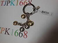 New COACH~Gold / Silver~COACH Charm Letters Key Ring  Key Chain Key Fob 65430