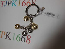 New COACH~Gold / Silver~COACH Charm Letters Key Ring  Key Chain Key Fob 65430